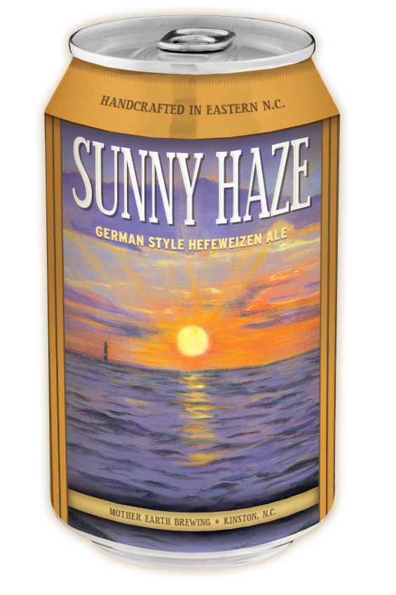 Sunny Haze a Hefeweizen Style Ale in a can